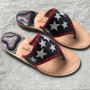 Jack Rogers Star Spangled Patriotic Thong Sandals